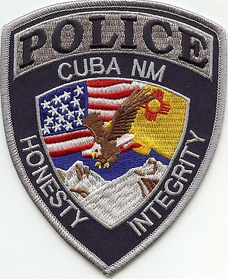 CUBA NEW MEXICO NM Honesty Integrity POLICE PATCH