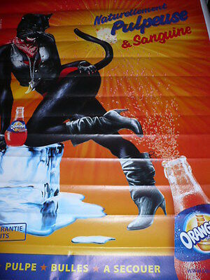 "AFFICHE POSTER GEANT  "" ORANGINA  - PANTHERE  "" 2008     180x120  TBE NON  PLIEE"