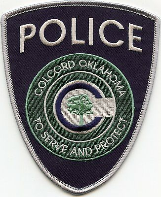 COLCORD OKLAHOMA OK To Serve And Protect POLICE PATCH