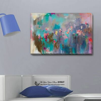 Abstract Flower Stretched Canvas Print Framed Wall Art Home Decor Painting Gift