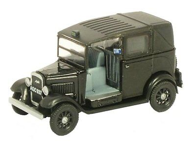 AUSTIN TAXI 40's Low loader Black 53x23mm OO 1/76 Scale DieCast Oxford 76AT001