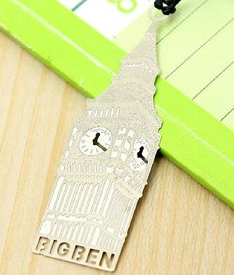 Marque-pages en métal argenté Big Ben Londres bookmark London memory of travel