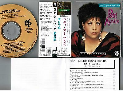 PATTI AUSTIN Love Is Gonna Getcha JAPAN 24k GOLD CD MVCZ-14 w/OBI+8p Booklet