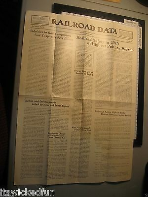 Sep 29 1950 - Railroad Data Newspaper - Eastern Railroad Presidents Conference