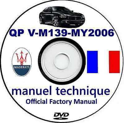 Workshop Manual,Maserati QP V M139,Manuel Technique