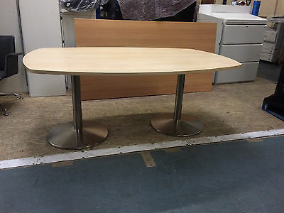 Oval beech top meeting table