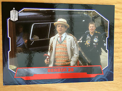 Topps Doctor Who 2015 Red Parallel 190 Base Card Season 25 38/50
