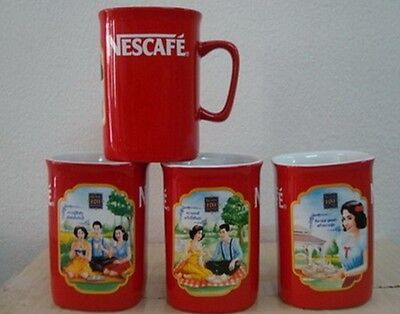 New Set Of 3 Nescafe Red Cup Mugs Limited Edition 120 Year Thai Anniversary
