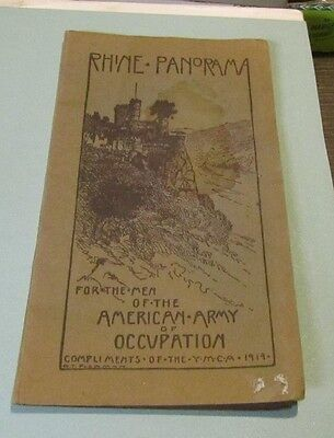 1919 Rhine Panorama For The Men of the American Army of Occupation Map Booklet