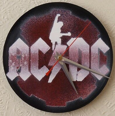 AC/DC inspired record wall clocks.7in RECORDS