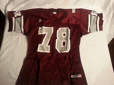 Youth Football Practice Jersey Maroon and White with a Ram on it Size Large