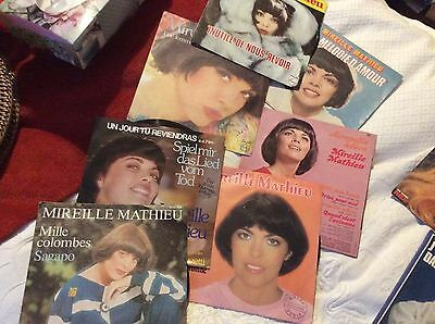 Lot de disques de Mireille Mathieu 45  tours