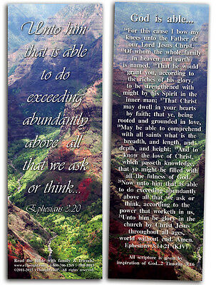 "God Is Able - Pack of 25 Cards - 2""x6"""