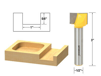 """1"""" Bottom Cleaning Router Bit - 1/2"""" Shank - Yonico 14973"""