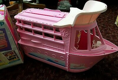 Vintage Barbie Mattel Pink Boat Cruise Ship Yacht and Box