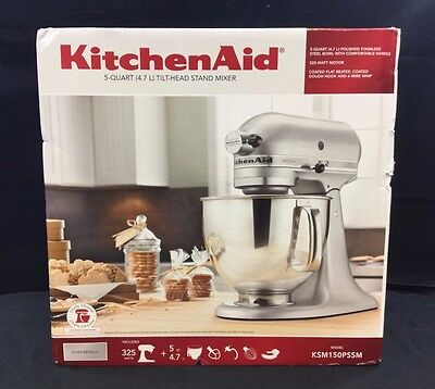 KitchenAid Artisan 5-Quart Tilt-Head Stand Mixer, White - KSM150PS
