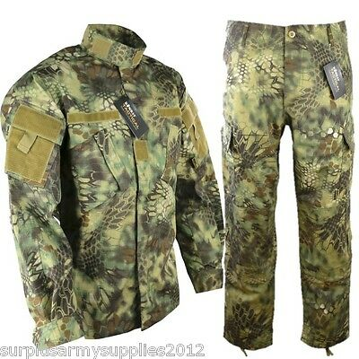 Tactical Ripstop Outfit Trousers Shirt Raptor Jungle Camo Paintballing Airsoft