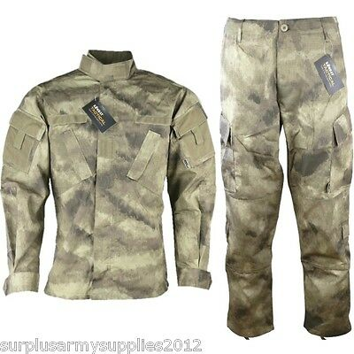 Tactical Ripstop Outfit Trousers Shirt Smudgekam Camo Paintballing Airsoft
