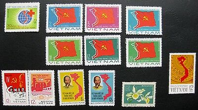 Vietnam 1976: Selection of Issues with unknown stamp (all mint)