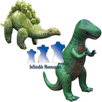 Inflatable Stegosaurus and T-Rex