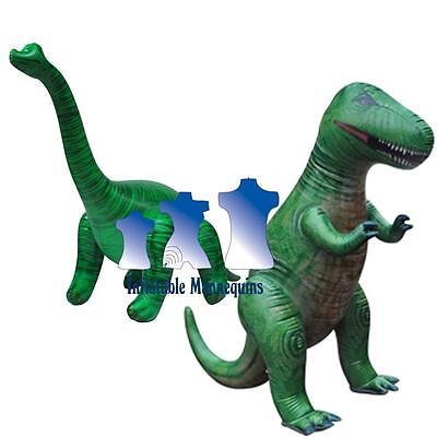 Inflatable Brachiosaurus and T-Rex