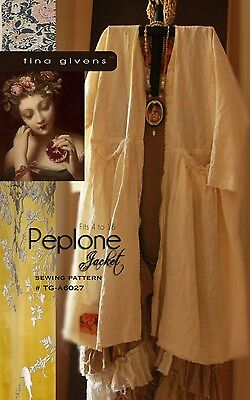 THE PEPLONE JACKET SEWING PATTERN, from Tina Givens, *NEW*
