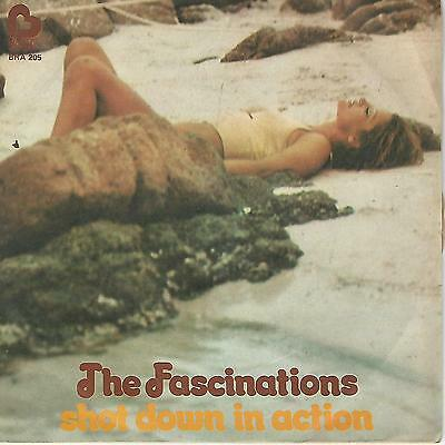 """The Fascinations """" Shot Down In Action / I Believe You Baby """" 7"""" Italy Press"""
