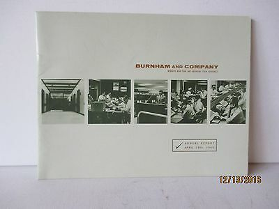 Vintage 1965 Annual Stock Report - Burnham & Company - Excellent - Free Shipping