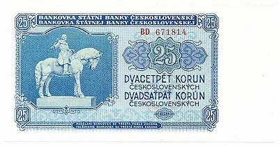 Czechoslovakia P#84a D(1953) 25 Korun Uncirculated, Beautiful Note [681.27]