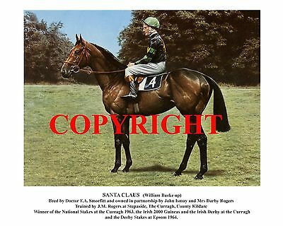 SANTA CLAUS: 1964 Derby winner 10x8 print, fully captioned and ready for framing