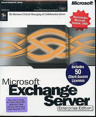 Factory Sealed - 395-01327 Microsoft Exchange Server 5.5 Enterprise 50 CAL