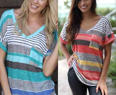 Fashion Summer Women Short Sleeve Tops Casual Loose Blouse T-Shirt Tee Plus Size