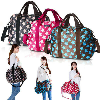 LD Fashion Tote Shoulder Mummy Baby Diaper Nappy Changing Large Luggage Tote Bag