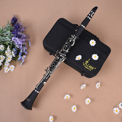 BRAND NEW STUDENT BAND CLARINETS CASE BAND CLARINET Wood Finish Clarinet