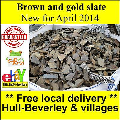 Slate chippings new for 2014 brown and gold