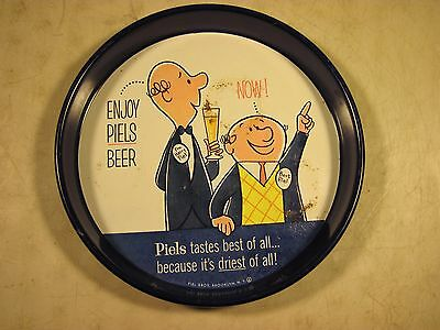 Vintage Piels Light Beer Metal Tray Canco Made In USA Piels Bros Brooklyn NY