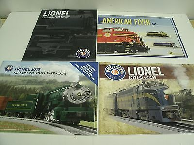 (4) 2013 LIONEL TRAINS CATALOGS Signature Ed., Fall, Ready to Run, American Flye
