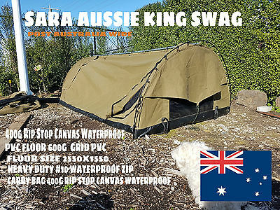 SARA Offroad Canvas King Size Dome Swag Heavy Duty inc Carry Bag
