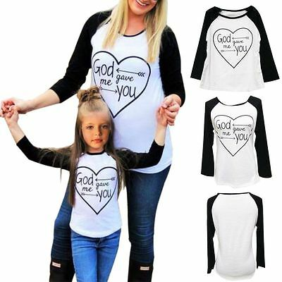 Mother Daughter Casual Long Sleeve Cotton Shirts Mommy Kid Outfits Shirt Clothes