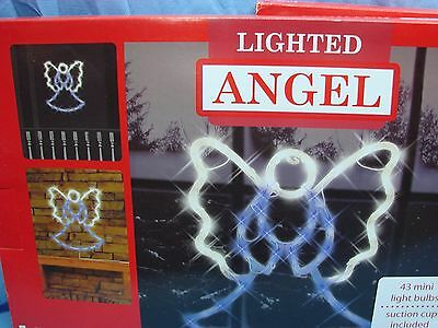 2009 Impact Innovations Christmas Lighted Window Decoration, Praying Angel w Box