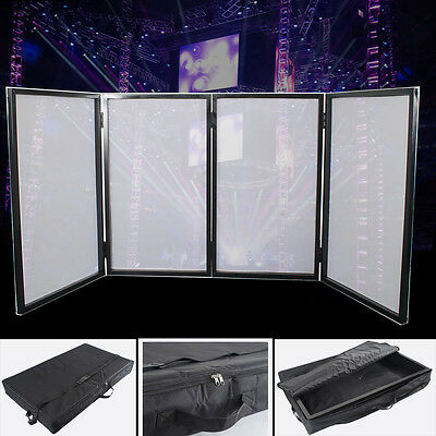 DJ Event Booth Lighting 4 Frame Panels Facade Lycra Fabric Screen Free Carry Bag