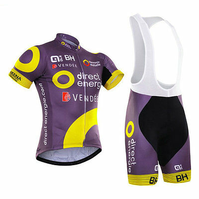 2016 Men's Team Cycling Short Sleeve Polyester Jersey Bib Shorts Knicks Sets