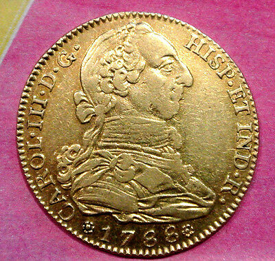 Carlos Iii 4 Escudos Or /gold 1788 Madrid Poids 13Gr3