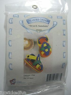 Beach Sandals - Tender Heart Treasured Toggery Bear Outfit NEW SEALED