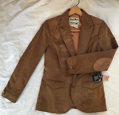 Vintage Pioneer Wear Western Jacket New Blazer Size 8 Womens Leather Suede Usa