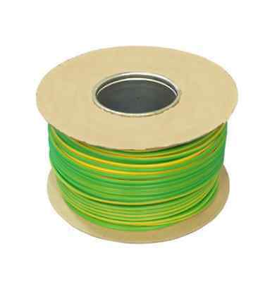 Tri-rated Panel & Conduit Cable 1.5mm² 16AWG 21Amp 600V Green/Yellow (Earth)