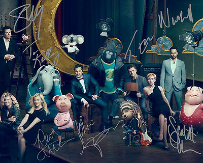 Sing Matthew McConaughey Reese Witherspoon Cast Signed Photo Autograph Reprint