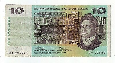 $10 Paper Banknote Commonwealth of Australia Phillips Wheeler SVY Series L-307