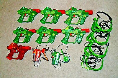 Lazer Tag Team Ops Deluxe Laser Blaster Gun Toy Tiger Electronics Lot 7 Camo Com