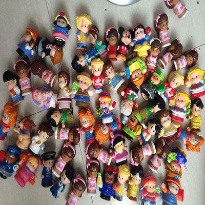 20Pcs Random No repeat Fisher Price Little People and Animal Mini Figure lot